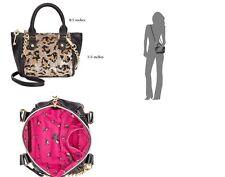 Betsey Johnson Mini Crossbody Handbag in Leopard -New