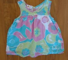 Roxy Teenie Wahine Dress, Girls Toddlers Bright Floral Aloha Print Cotton Dress