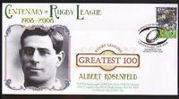 ALBERT ROSENFELD SYDNEY ROOSTERS RUGBYs GREATEST 100 Cv