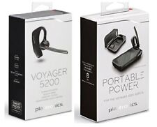 Oem Plantronics Voyager 5200 Bluetooth Headset With Portable Charging Case