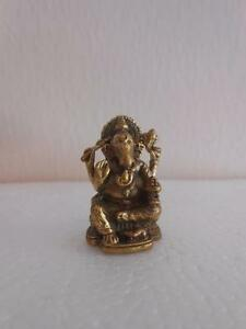 Lord Pancha Mukha Ganesh Ganesha Ganapati Hinduism Brass statue Amulet TINY