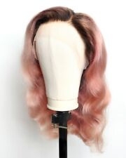 Custom Colored and Styled Lace Front Human Hair Wig 24 inch