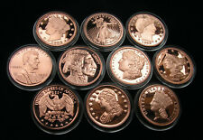 Motive alter Münzen II 10 x 1 Unze Kupfer, 10 x 1 Oz Copper Round