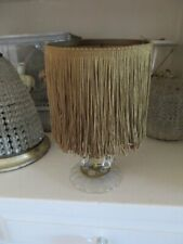 New ListingStunning Old Vintage Lampshade All Gold Fringe Over Shade