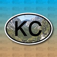 "KC Kings Canyon National Park California 5"" Hike Custom Vinyl Decal Sticker"