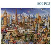 1000 Pieces Jigsaw Puzzles World Architecture for Adults Kids Game Toy Artwork