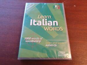 2 x Learn Italian Words Language CD and Dictionary