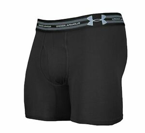 "Mens Under Armour Tactical 6"" Black Cotton Jock Underwear Boxer Briefs"
