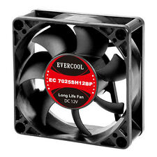 Evercool EC7025SH12BP 70mm x 25mm DC 12v Dual Ball Cooling Fan 4Pin PWM