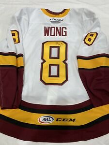 GAME USED GAME WORN TYLER WONG JERSEY CHICAGO WOLVES CALDER FINALS ISSUED