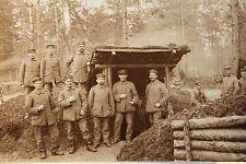 26588 Foto AK 1. Weltkrieg Soldaten Unterstand Gortemark 1916 PC CPA WW I