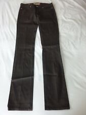 Notify NFY Anemone Jeans Skinny Flare Brown Waxed Jeans Made in Italy Sz 28 MINT