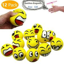 MIMIEYES Funny Face Squeeze Stress Balls, Finger Exercise/Stress Relief Toys,...