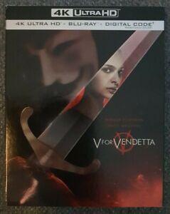 V For Vendetta 4K + Blu-ray + Slipcover (2 Disc Set) Brand New Sealed