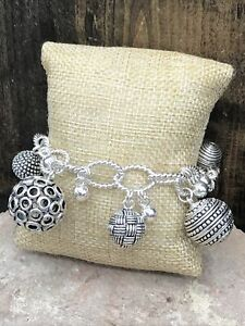 Barse Serendipity Toggle Bracelet- Silver Overlay- New With Tags