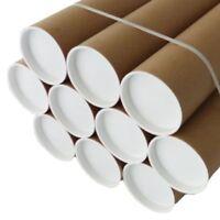 Quality Postal Tubes Cardboard 50.8mm A0 A1 A2 A3 A4 + Plastic White End Caps