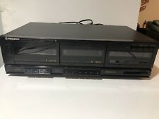 Pioneer Stereo Double Dual Cassette Deck CT-W310 - Tested And Working.  Clean.