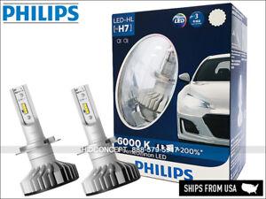 NEW! H7 PHILIPS LED X-treme Ultinon 12985BWX2 Hi/Low Beam 6000K Up to +200%