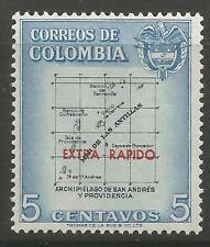 COLOMBIA. 1957. EXTRA-RAPIDO Overprint. SG: 907. Mint Never Hinged.
