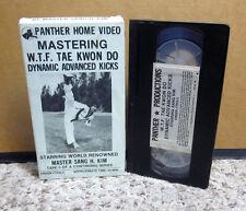 WTF TAE KWON DO martial arts instructional VHS Master Sang Kim advanced kicks