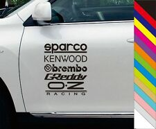 Creative Sparco Kenwood Obrembo Car Truck Window Novelty Vinyl Decal Sticker