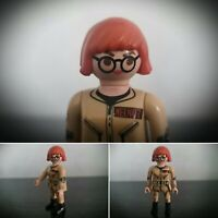 Playmobil Action Figure Ghostbusters Janine Melnitz Female Glasses 2017 Geobra