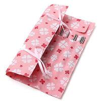 Pink Knitting Needle Crochet Hook Organizer Bag Pouch SALE Storage Holder T3G8