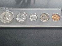 1961 UNITED STATES US Half Dollar Quarter Dime Proof 5 Coin Set
