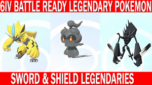 Pokemon Sword & Shield 6IV Zeraora, Marshadow, Necrozma Legendary Battle Ready!!