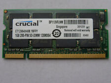 Nuova SODIMM 1GB DDR400 MEMORIA RAM PC3200S CRUCIAL CT12864X40B.16FFY x Notebook