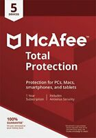 McAfee Total Protection 2018 5PC / 1 Year Antivirus