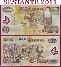 ZAMBIA  -    500 KWACHA 2006  -  POLYMER    -   P 43e    -   FDS / UNC