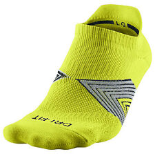 New Nike Running Cushion No-Show Dri-Fit Socks Cyber L Large SX4750-360 Tennis
