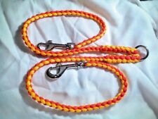 Paracord Double lead coupler hand made you pick 2 colors  (2 foot)