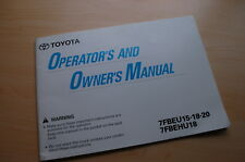 Toyota 7fbeu 7fbehu Forklift Owner Operator Operation Manual Book Guide User 15