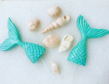 Mermaid Tails, Shells & Name Fondant Cake Toppers Decorations Cakes Party Theme