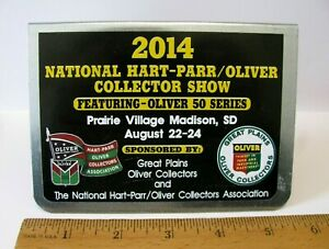 2014 National Hart-Parr Oliver Collector Show Metal Advertising Sign Plaque SD