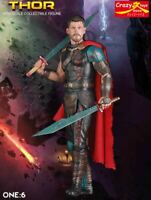 CRAZY TOYS 1/6 SCALE THOR RAGNAROK COLLECTIBLE FIGURE MODEL STATUE 12 INCH