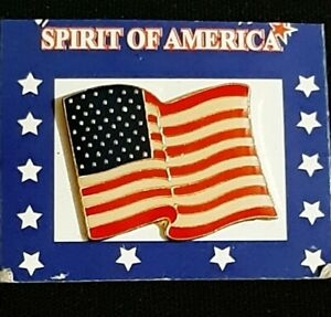 LOT OF SPIRIT OF AMERICA FLAG PINS
