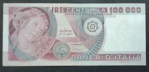 REPUBBLICA - BANCONOTA DA  100000 LIRE - BOTTICELLI - 1978 - ORIGINALE