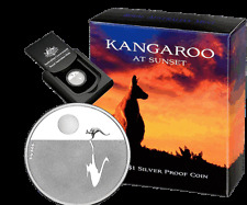 2012 $1 Kangaroo at Sunset 1/5 oz Silver Proof Coin