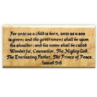 ISAIAH 9:6 religious Christmas mounted rubber stamp bible verse, scripture #13
