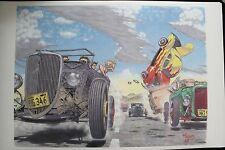 "24""x36"" HOT ROD RACE Car Poster Art Ford Model A Robert Williams Coupe Roadster"