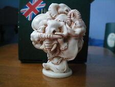 Harmony Kingdom Atlas Shrugged Elephants Uk Made Marble Resin Box Figurine