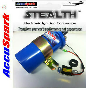 Ford Essex V6 Stealth Electronic ignition kit /AccuSpark Blue Sports coil