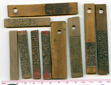 BT102, China 20 Pieces Standard Bamboo Tallies (Tokens), 1930-1940