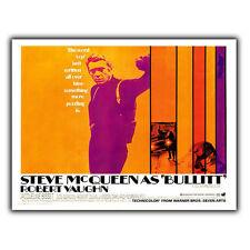 STEVE MCQUEEN BULLITT METAL SIGN WALL PLAQUE Film Movie Advert poster print