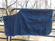 WATERPROOF EXCERCISE HORSE SHEET SIZE XL SHELL POLYESTER LINING NYLON NAVY