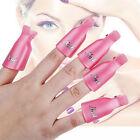 10pcs Plastic Nail Soak Off UV Gel Art Polish Remover Wrap Gelish Clip Cap 3C