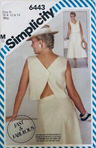 Fabulous Simplicity 6443 Vintage 1980s Retro Top and Skirt Sz 10 12 14 | UNCUT